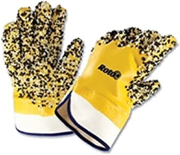 PVC Coated Work Gloves for Plumbers using Drain or Sewer Machines