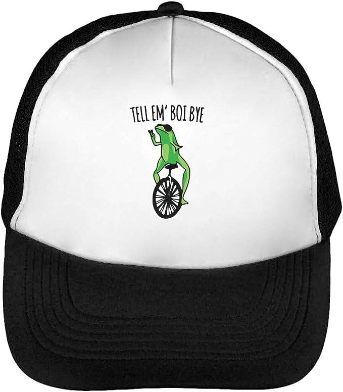 Gorra de béisbol para Hombre, diseño de Rana con Texto en inglés ...