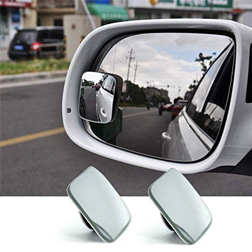 KUOZEN Car Spot Mirror Car Accessories Driving Safety Mirror HD Wear-resistant Real Glass Adjustable Rear View Mirror Waterproof Glass Blind Wide Mirror