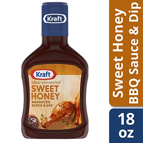 KRAFT Sweet Honey Barbecue Sauce Bottle, 18 oz