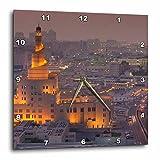 3dRose Doha, Fanar, Qatar Islamic Cultural Center, Elevated View, Dusk Wall Clock, 15'' x 15''