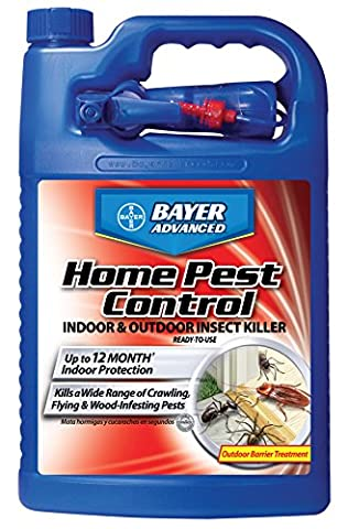 Bayer Advanced 502795 Home Pest Control Indoor and Outdoor Insect Killer Ready-To-Use, 1-Gallon (Pest Control)