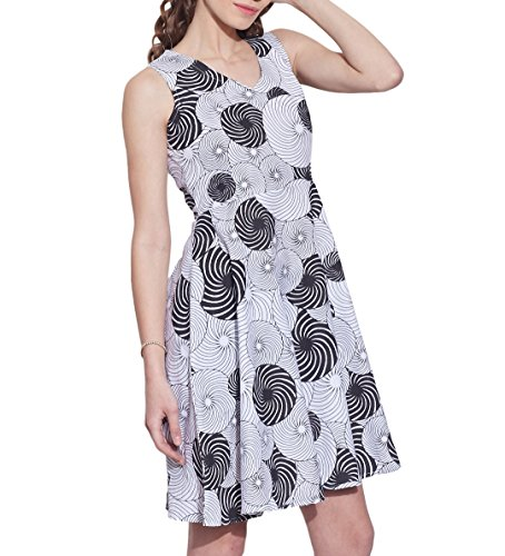 Femmes Accessoires Robe en coton imprimé, lavable en machine, W-CPD38-1611, Taille-38 pouces