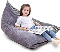 Bchway Large Stuffed Animal Storage Bean Bag Chair Animals Toy Organizer Bags Stuffied Seat with Extra Long Zipper...