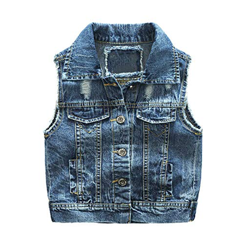 New Children Boy Denim Vest Spring Autumn Kids Waistcoat Clothes Bebe Jeans Jacket for 2-7T Outerwear Blue