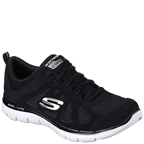 black White Simplistic Women's Appeal Trainers Weight Lite fitness Flex Skechers Black 2 0 7vc6q