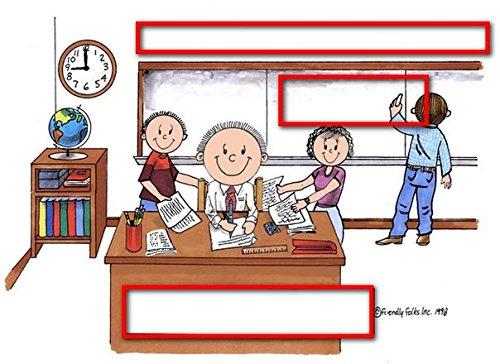 Teacher, High School - MalePersonalized Friendly Folks Mail - File Sorter