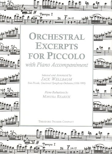 Orchestral Excerpts for Piccolo with Piano Accompaniment
