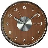 DecoMates - Reloj de pared silencioso, Ecléctico, Brown Eclectic, 1