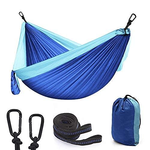Outdoor gemengde kleuren nylon parachutedoek 300200 dubbele outdoor camping hangmat schommel