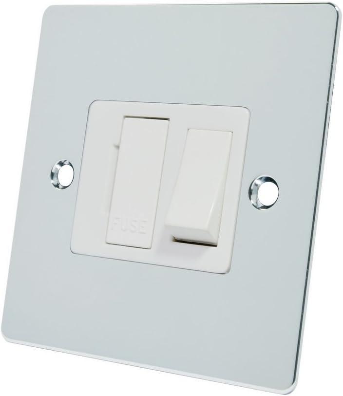 /Cromo Pulido Alianza Tetera fpcsfswh 13/un Soporte de Color Blanco Interruptor con Fusible pl/ástico Rocker Interruptor/