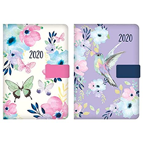 2019 A5 Floral Butterfly Family Organiser