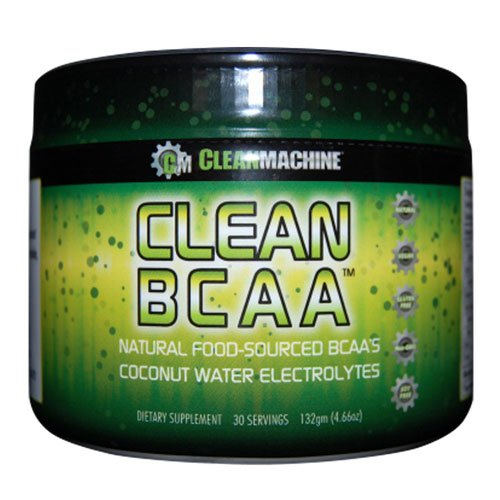 Clean Machine BCAA Powder Supplement, Natural Pre-Workout Post-Workout, Vegan Organic Non-GMO Coconut Water Electrolytes, Food-Sourced BCAA - Unflavored, 30 Servings