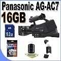 Panasonic AG-AC7 Shoulder Mount AVCHD Camcorder W/16GB SDHC Memory + USB Card Reader + Accessory Saver Bundle! from Panasonic