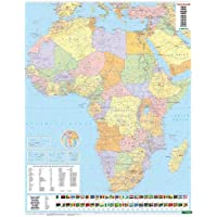 Africa Map Flat in a Tube 1:8 000 000