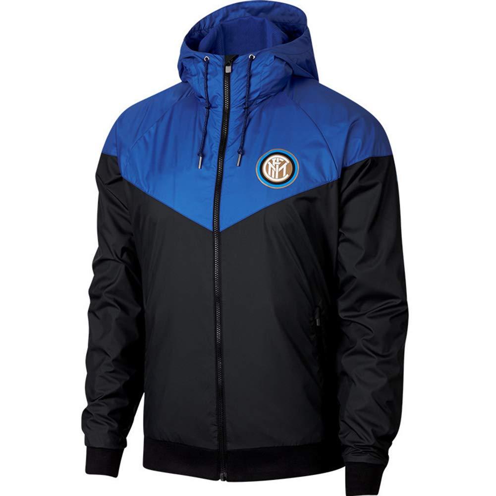 XSSC Milano Erwachsenen Fußballspiel Training Team Wear Laufbekleidung Trikot Anzug Herbst Winter Junge Student Reißverschluss Sweatshirt Top Größe Freizeit Tops Blue-L