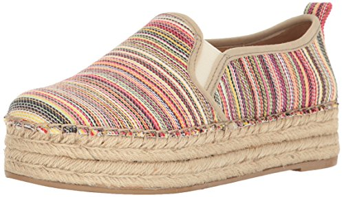 Stripe Women's Espadrille Multi Edelman Sneaker Sam Platform Bright Slip On Carrin ZIvqCw5
