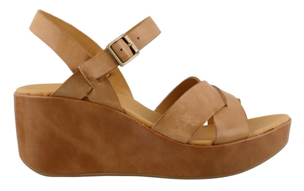 KORKS Women's, Denica Wedge Sandals B07BQV6RB6 11 M US|Tan