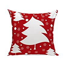 Square Pillow Case, Kimloog Car Carrying Gift And Christmas Tree Linen Home Decorative Throw Cushion Cover 18x18'' (18X18, A2)