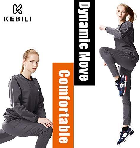 KEBILI Sauna Suit Women Weight Loss Gym Fitness Exercise Workout Sweat Training Hot Fat Men 2