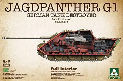 TAKom 2106 JAGDPANTHER G1 German Tank Destroyer Late Production 1:35 Scale Plastic Model Kit