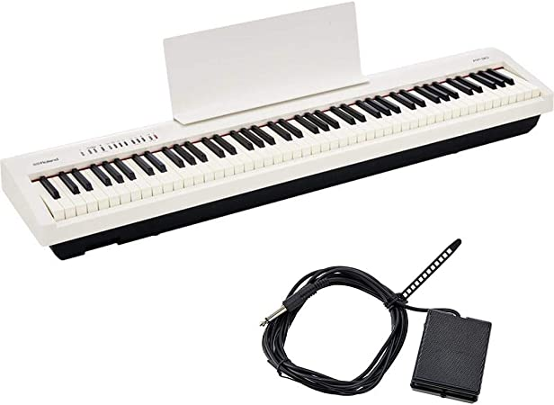 Roland FP-30 WH Stage, Piano con prestaciones de gama alta y tamaño compacto, Blanco