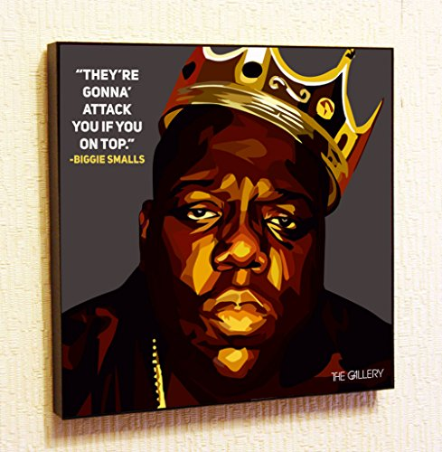 Madonna Famous Costumes (Biggie Smalls Singer Music Artist Actor Decor Motivational Quotes Wall Decals Pop Art Gifts Portrait Framed Famous Paintings on Acrylic Canvas Poster Prints Artwork (10x10