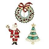 YSD Christmas Brooch Pins set Holiday Brooch Xmas Pin Lot Party Favor set santa claus brooch pins set …
