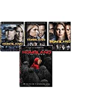 Homeland: Season 1-4 dvd, complete seasons one, two, three and four