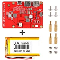 Crazepony-UK Lithium Battery Expansion Board for Raspberry Pi 3 Model B+ Pi 3B 2B Official LCD (Upgraded Version)