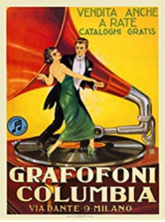 """Poster 24/"""" x 36/"""" Women with Yellow Vintage Car Popcorn"""