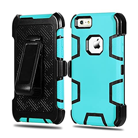 iPhone 6 Plus Case, iPhone 6S Plus Case HEAVY DUTY Tough 4 in1 Holster Belt-Clip Heavy Duty Kickstand Shockproof Armor Hybrid Hard Shell for Apple iPhone 6/6S Plus (Gold Disney Iphone 5s Case)