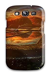 Fashionable Style Case Cover Skin For Galaxy S3- Animal Kashi Takahisa Original Sky Sunset Water Farm Landscapes Vector Art
