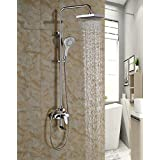 "Rozinsanitary Rainfall 8"" ABS Shower Faucet Single Handle Swivel Tub Mixer W/ Handheld Sprayer"