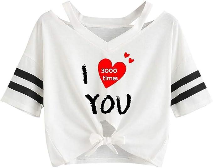 VECDY - Camiseta de Manga Corta para Mujer, Estilo Informal ...