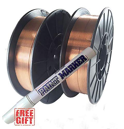 2 Rolls ER70S-6 .023'' .030'' .035'' 10-LB Spool Mild Steel MIG Welding Wire (2 Rolls of 0.030'') by Hy-Weld