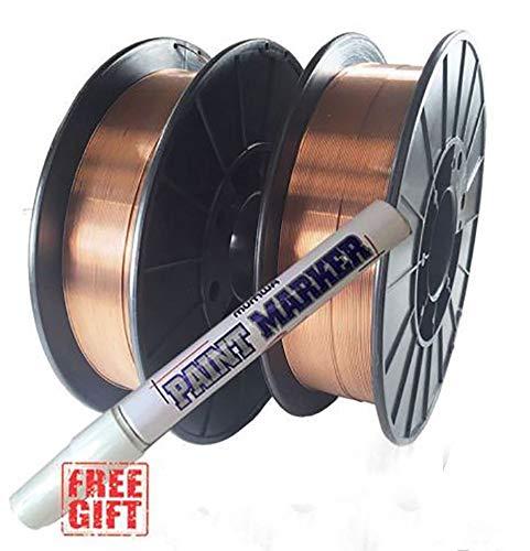 """2 Rolls ER70S-6 .023"""" .030"""" .035"""" 10-LB Spool Mild Steel MIG Welding Wire (2 Rolls of 0.035"""")"""