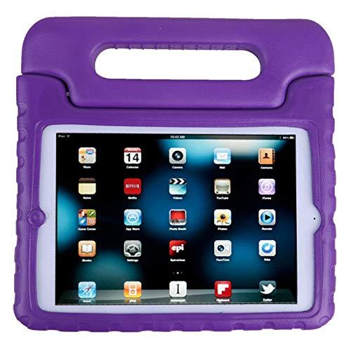 iPad Mini Case,AGRIGLEER [Kids Series]Shock Proof Convertible Handle Light Weight Super Protective Stand Cover Case for Apple iPad Mini /Mini 2/Mini 3 (Purple)