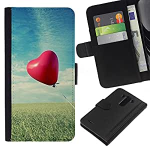 Ihec-Tech / Flip PU Cuero Cover Case para LG Optimus G3 - Love Balloon Love