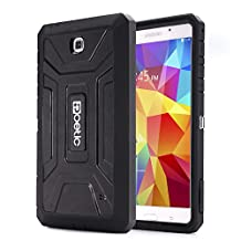 Poetic Samsung Galaxy Tab 4 7.0 / Galaxy Tab 4 NOOK Case [REVOLUTION Series] - Rugged Hybrid Case with Built-in Screen Protector for Samsung Galaxy Tab 4 7.0 / Galaxy Tab 4 NOOK (SM-T230 / SM-T231 / SM-T235) Black (3-Year Manufacturer Warranty from Poetic)