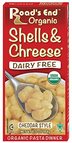 Road's End Organic Shells & Chreese, Organic, 6.5 Ounce Boxes (Pack of 12) (Best Vegan Macaroni And Cheese)