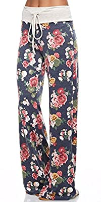 Inspire L' Amour Womens Casual Lounge Floral Pants