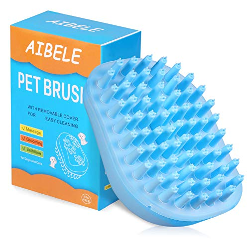 Dog Bath Brush,Massage Grooming Brush for Dogs and Cats,Soft Pet Shampoo Brush for Shedding Hair