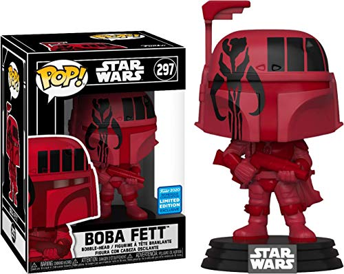 Desconocido Funko Pop! Star Wars - Boba Fett (Red Wonder con 2020 Exclusive)