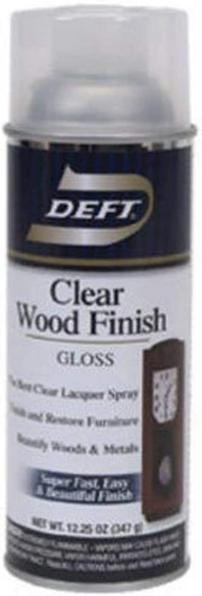 Deft Interior Clear Wood Finish Gloss Lacquer, 12.25-Ounce Aerosol Spray