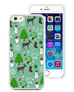 Personalization iPhone 6 Case,Merry Christmas White iPhone 6 4.7 Inch TPU Case 18