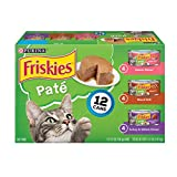 Purina Friskies Pate Wet Cat Food Variety Pack; Salmon - Turkey & Grilled - (2 packs of 12) 5.5 oz. Cans