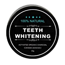 MadRab Canadian Biological Activated Coconut Charcoal Teeth Whitening Detoxifier Powder Certified Charcoal Toothpaste Medical Grade Teeth Whitener Charcoal Oral Hygiene Care- 30 Gram