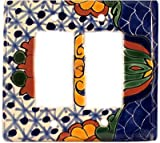 Double Decora Turtle Talavera Switch Plate
