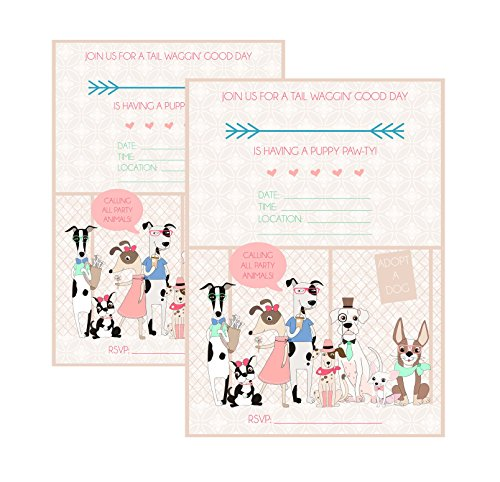 Silly Goose Gifts Calling All Party Animals Puppy Adoption Party Supply (Invitation) ()